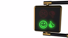 "Traffic light with alternately changing the symbols Smiley ""Like/ Dislike"" Stock Footage"