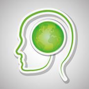 Think green design , vector illustration Stock Illustration