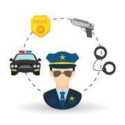 police icon design - stock illustration