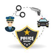 Police icon design Stock Illustration
