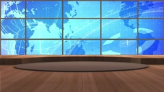 News TV Studio Set 171- Virtual Green Screen Background Loop - stock footage