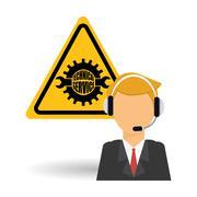 Call center icon design Stock Illustration