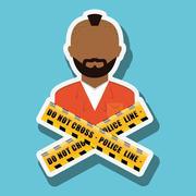 criminal  icon design, vector illustration - stock illustration
