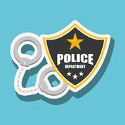 police icon design, vector illustration - stock illustration
