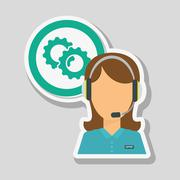Call center icon design, vector illustration Stock Illustration