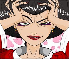Sensual Geisha Woman Stock Illustration