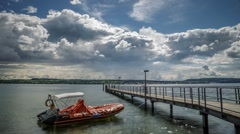 Warm Summer day at Lake Constance, Germany, Time Lapse Stock Footage
