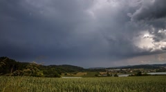 Storm forming over a Field in Germany - Time Lapse Stock Footage