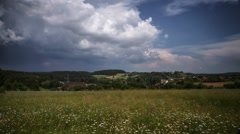 Big Storm forming over a Field in southern Germany - Time Lapse Stock Footage