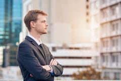 Business requires focus and determination - stock photo