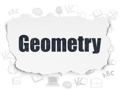 Studying concept: Geometry on Torn Paper background - stock illustration