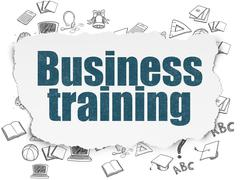 Learning concept: Business Training on Torn Paper background Stock Illustration