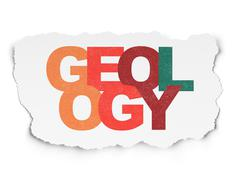 Science concept: Geology on Torn Paper background Stock Illustration