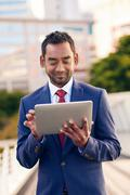 Digital tablets make doing business easy anywhere Stock Photos