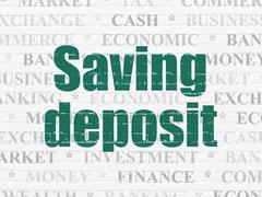 Money concept: Saving Deposit on wall background - stock illustration