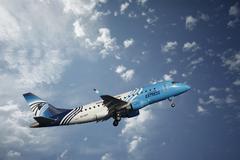 EgyptAir plane - stock photo