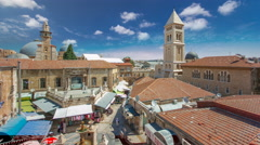 View of the old town timelapse. Jerusalem, Israel. Old city of Jerusalem from Arkistovideo