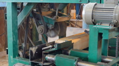 Processing of the bar on the machine Stock Footage