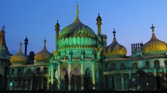 View of the Brighton pavilion - stock footage