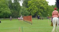 A medieval joust Stock Footage