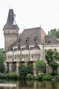 Beautiful Vajdahunyad castle in Budapest, Hungary, cultural heritage Stock Photos
