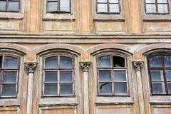 Old house in Banska Stiavnica, Slovak republic, architectural theme - stock photo