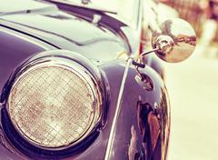 Shiny vintage car, retro photo filter Stock Photos