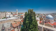 Panorama of Jerusalem Old City and Temple Mount timelapse hyperlapse from Arkistovideo