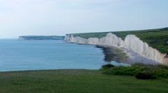 White cliff beach area Stock Footage