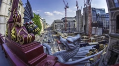 The dragon in the City of London Stock Footage