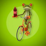 Fun frog - stock illustration