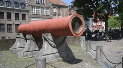 The red cannon Dulle Griet / Mad Meg at Ghent, Flanders, Belgium - stock footage
