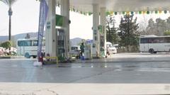 Antalya, Turkey - March 2016: automotive gasoline refueling - stock footage