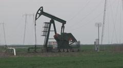 Oil pump on the feild Stock Footage