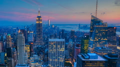 Nightfall timelapse in the heart of Manhattan - stock footage