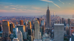 Gorgeous Nightfall timelapse in the heart of Manhattan Stock Footage