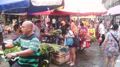Farmers market in the Dragon Boat Festival landscape Stock Footage