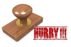 Hurry wooded seal stamp - stock illustration