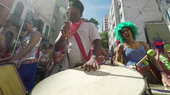 Street Carnival of Rio de Janeiro # 42 (Slow Motion) - stock footage