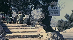 Majorca 1969: people sitting in a bar Stock Footage