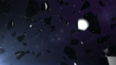 Black stones falling down. Stock Footage
