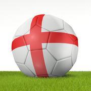 Football - flag of England 2 - 3D rendering Stock Illustration