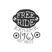 Freeride Extreme Vintage Label - stock illustration