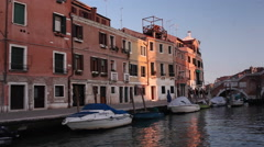 View of Venice lagoon from ferry boat - stock footage