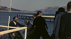 Majorca 1969: people arriving after a sightseeing tour Stock Footage
