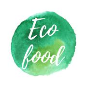 Vector natural organic icon, eco label - stock illustration