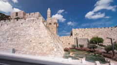 Tower of David timelapse hyperlapse. Jerusalem, Israel - stock footage