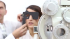 Eye Exams By Optometrist Stock Footage