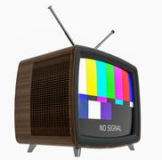 Illustration of old style wooden case TV isolated on white - stock illustration