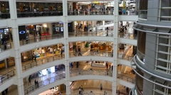 Elevator 4k shopping mall people buying center centre time lapse timelapse Stock Footage